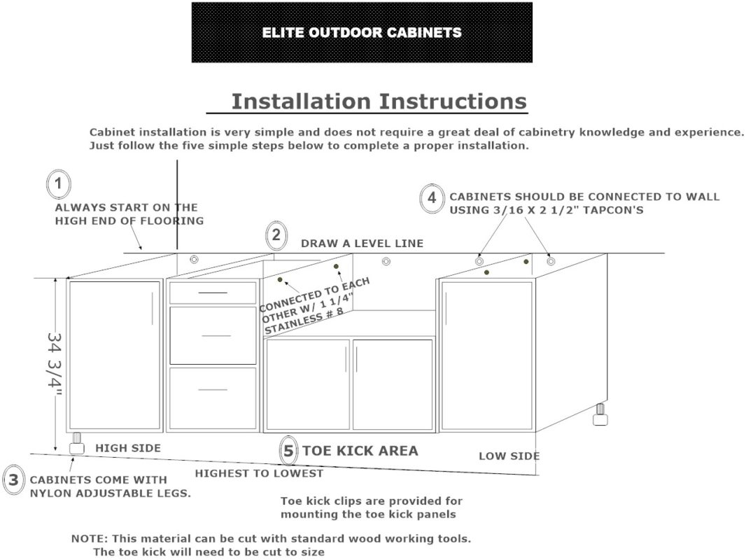 Outdoor Cabinets Installation Instructions from Elite Outdoor Cabinets